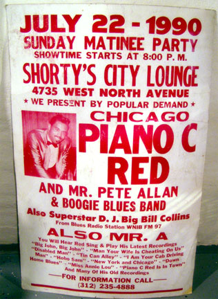 Piano Red poster